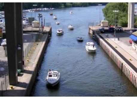 Stockholm has locks between the islands, enyoy and just look at the boats.