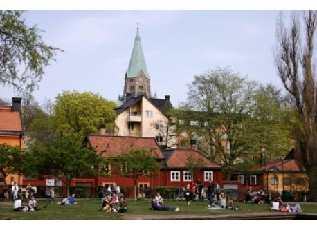 Close to where we live you can find the small square/park Nytorget. Right in the middle of SoFo, here is were the locals hang...