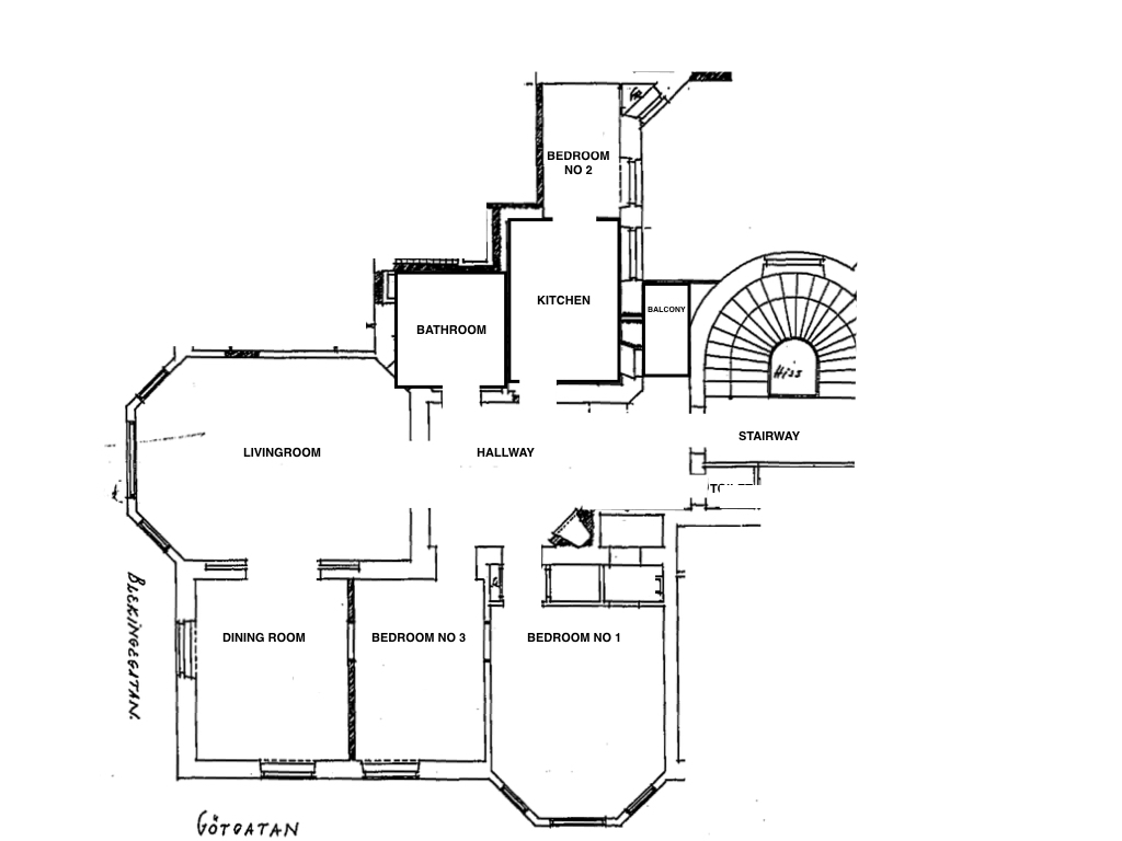 Planning, disposition of the flat