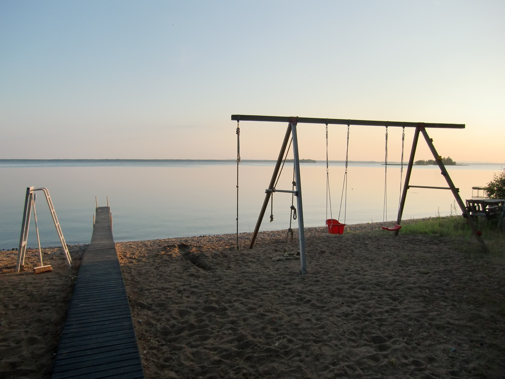 Swing-set on the beach