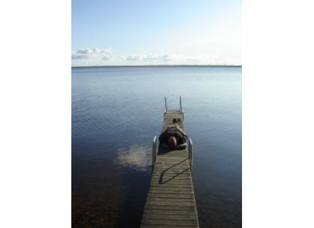 Our little jetty right outside the house
