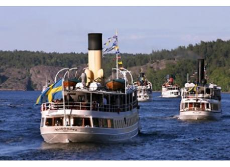 Steam boats will take you out to the Stockholm archepelago