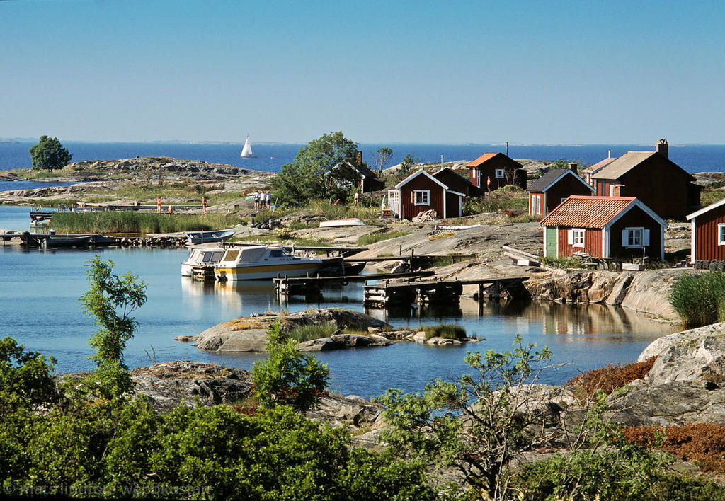 Stockholm archepelago consists of thousand of small islands