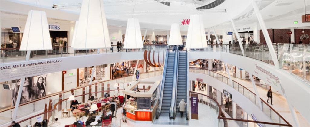 Nacka forum, shopping mall, 20 minutes from our house