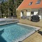Our new swimming pool and hot tub