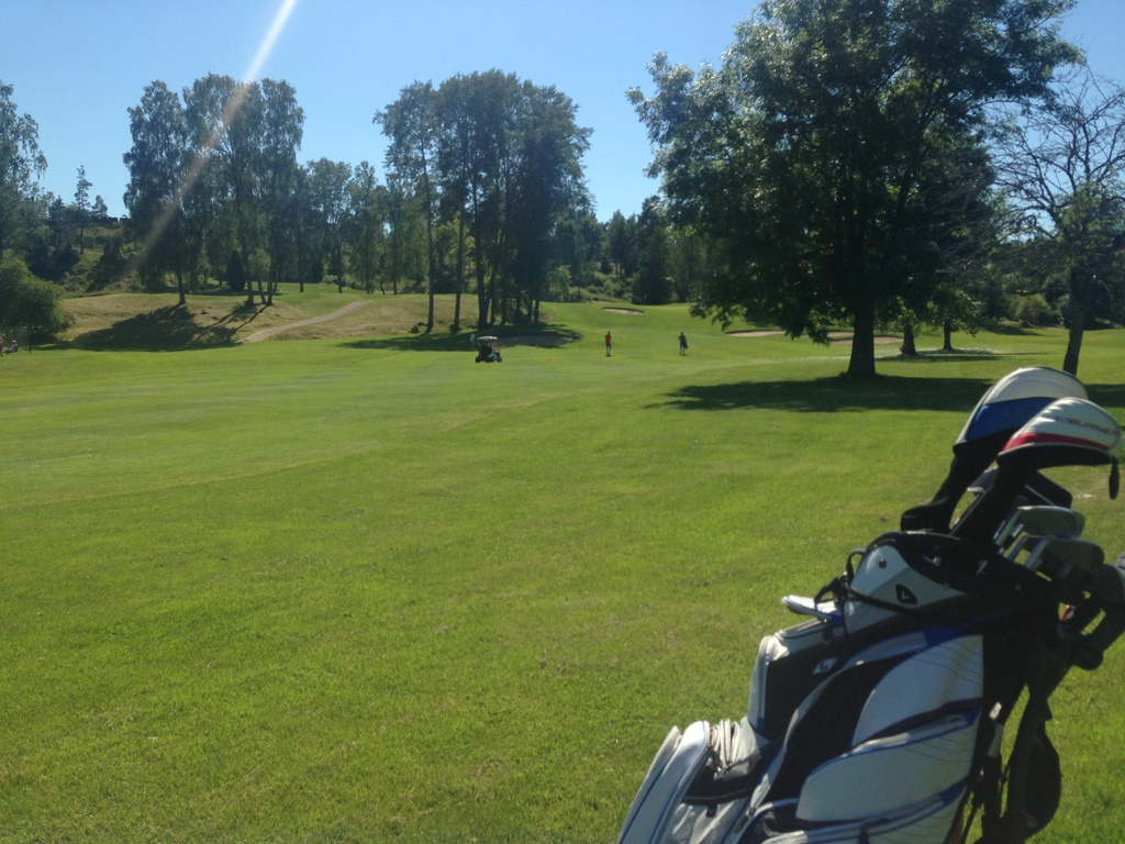 Ingarö golf course, 10 minutes from our house