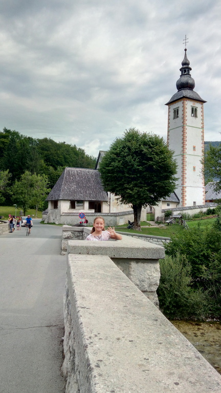 Bohinj - 70 km Northern from Ljubljana (25 km further than Bled) - Church and bridge