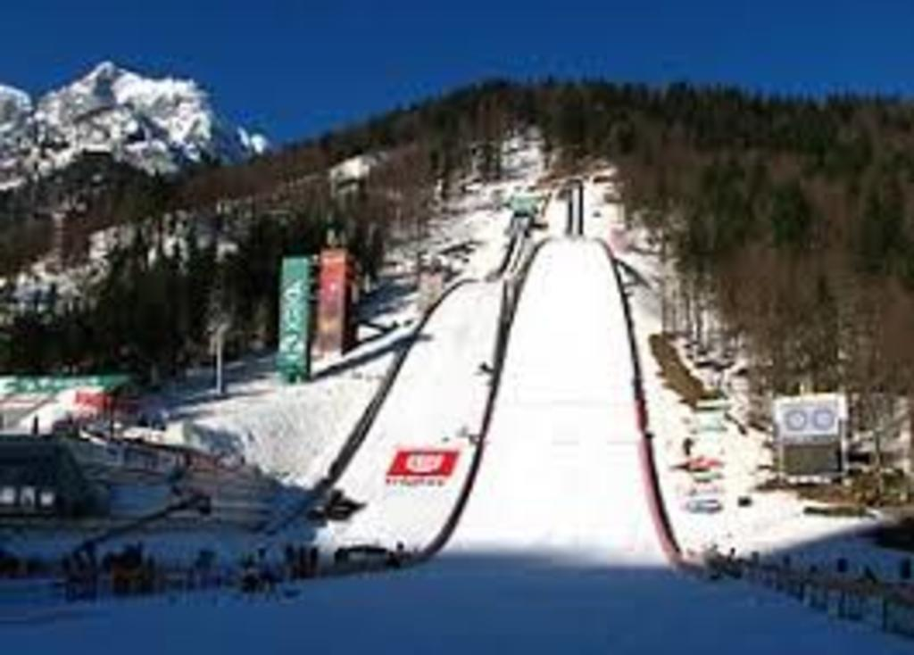 Planica - the longest ski jump on World - 100 km northern of Ljubljana