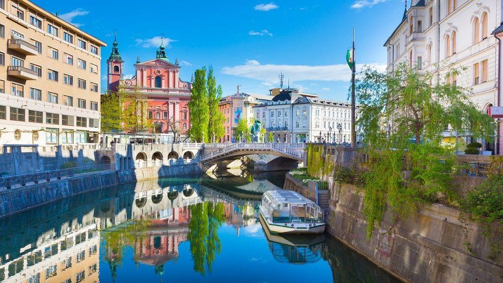 Ljubljana, river Ljubljanica