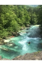River Soča in the heart of the Julian Alps