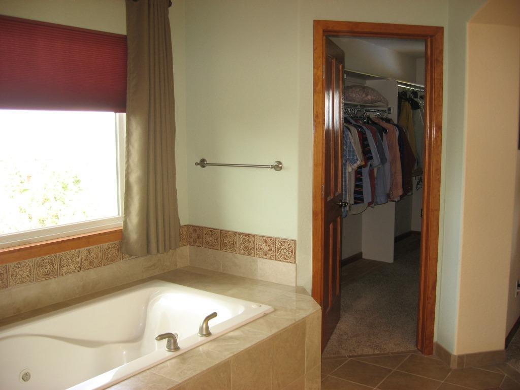 Bathroom and walk in closet