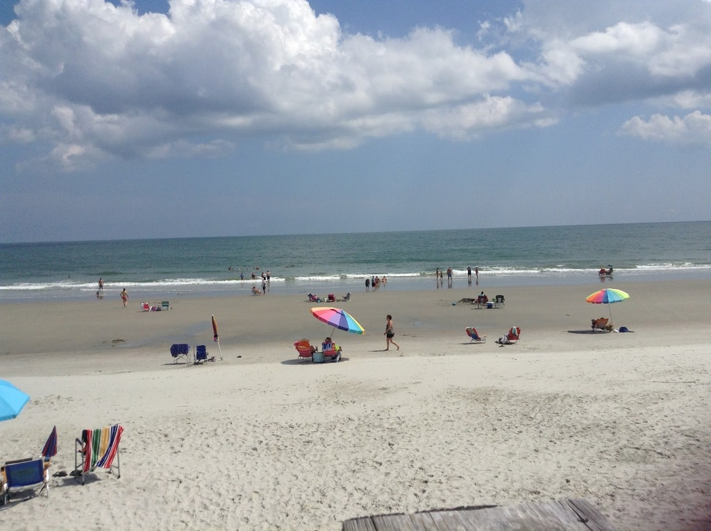 Guests access the uncrowded private beach in Pawleys Island