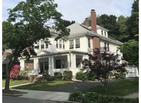 We live in half of this beautiful colonial home built in 1880. Parking in the back.