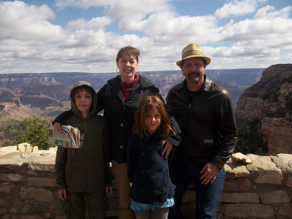 Nicholas, Karen, Sophie and Tom at the Grand Canyon