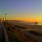 Sunset, looking south from Manhattan Beach: 20+ miles walk/bike path goes from Santa Monica to Palos Verdes.