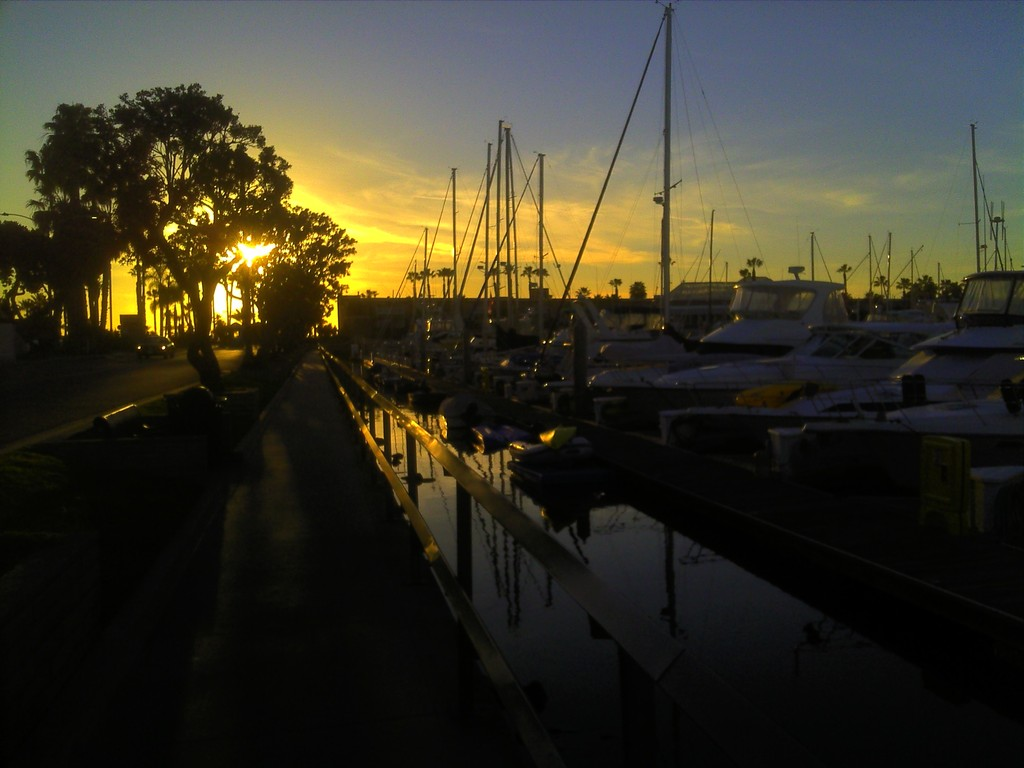 Sunset at King Harbor in Redondo Beach