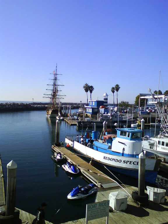 King Harbor in Redondo Beach (35 minutes walk)