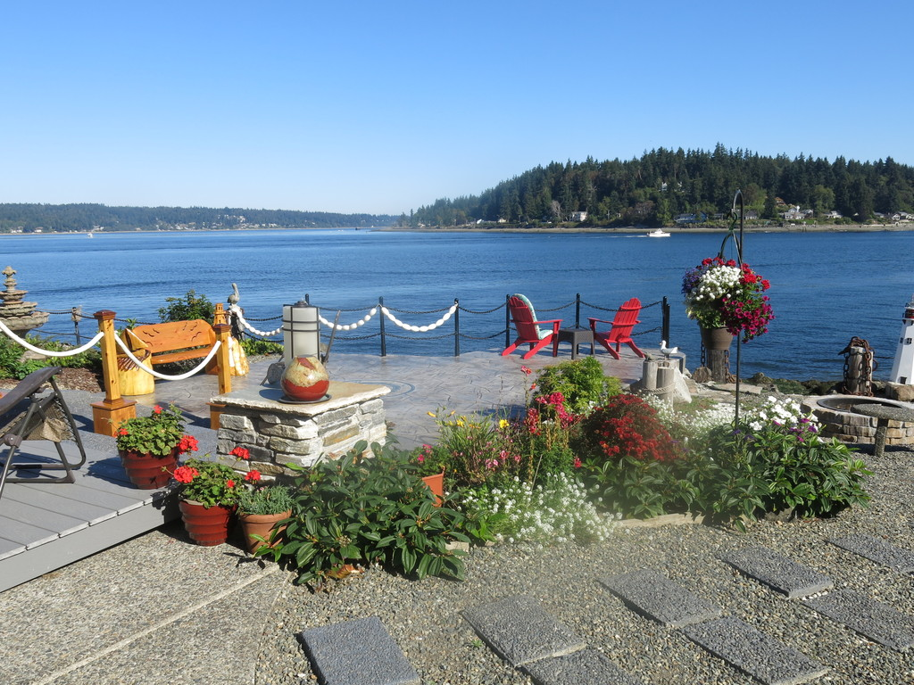 View of Bainbridge Island from patio
