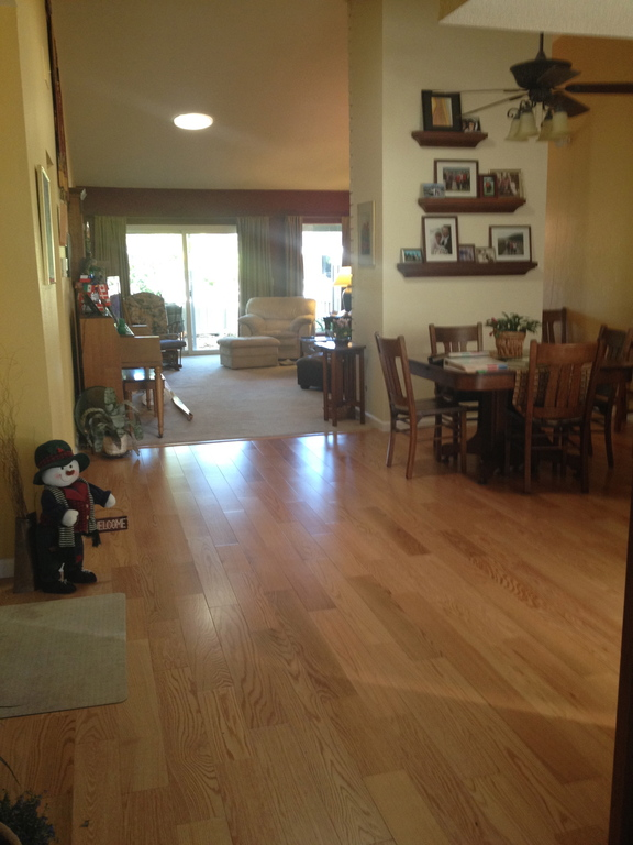 Dining room looking into living room.
