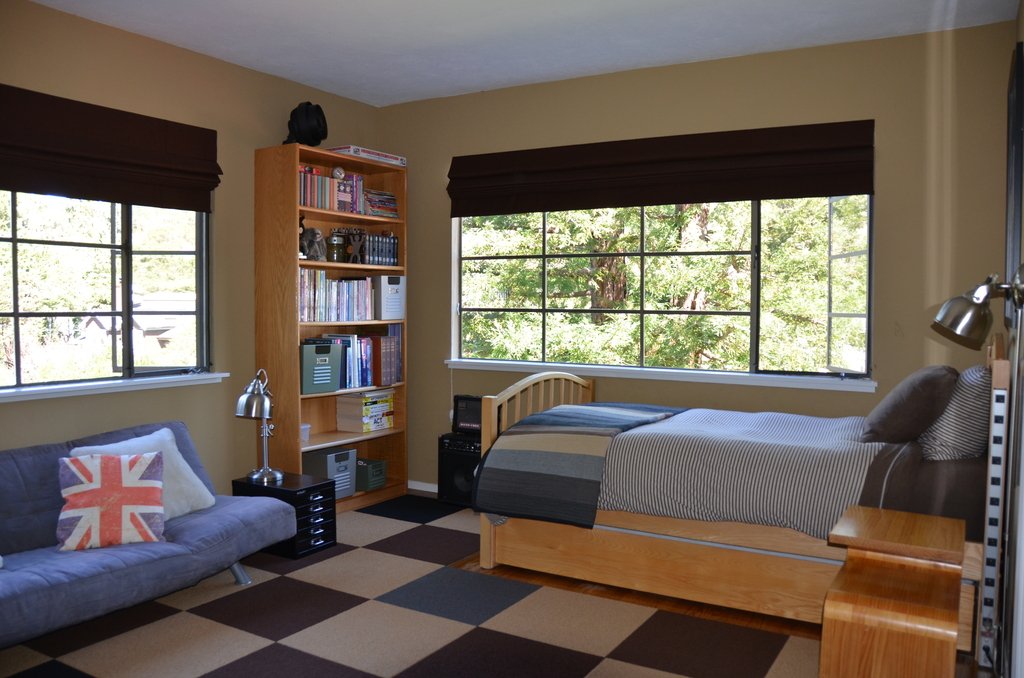 Bedroom #3 with twin bed and twin trundle; down and jersey cotton bedding. Our son is attending college in Colorado.