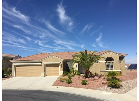 Sun City Anthem home in Henderson, NV is in a golf community.