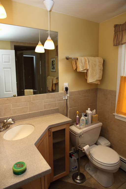 Ensuite bath with shower.
