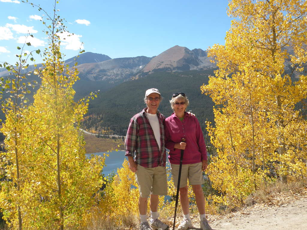 Mary and I in the mountains