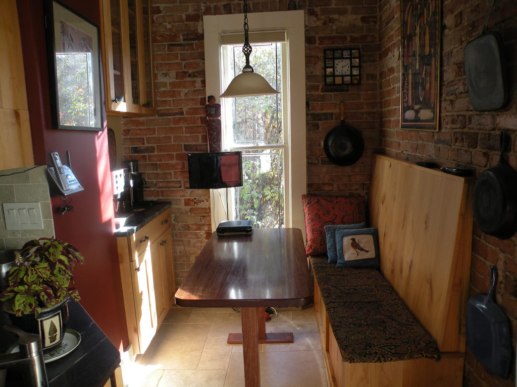 breakfast nook and coffee bar