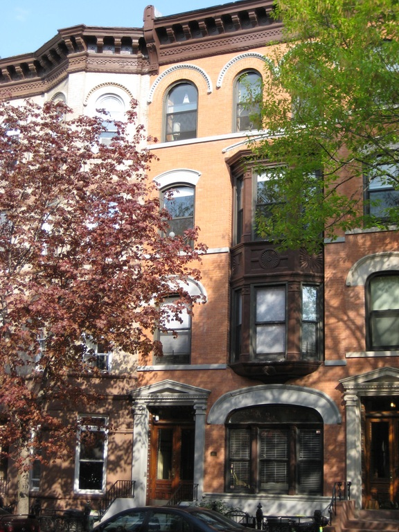 Our apartment is on the 3rd floor of this brownstone.