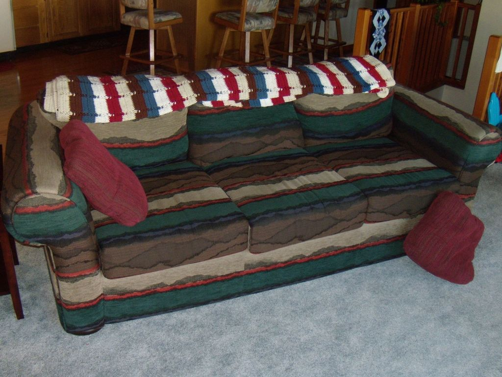 A child or teenager would love sleeping on the cozy couch!