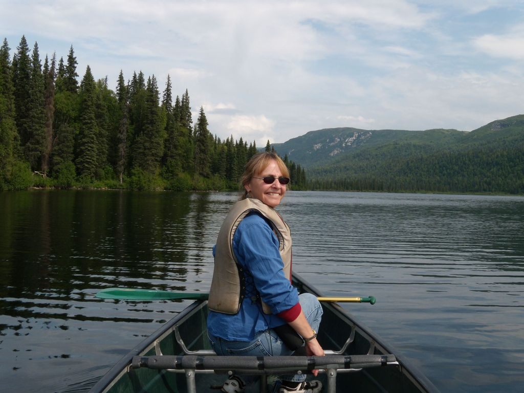 Rent  kayaks or canoes at Chena Lakes southeast of Fairbanks (near North Pole, Alaska) -  or at Pioneer Park in Fairbanks.
