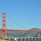 Golden Gate Bridge from Crissy Field, in Presidio National Park