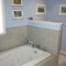 Whirlpool tub in the master bathroom