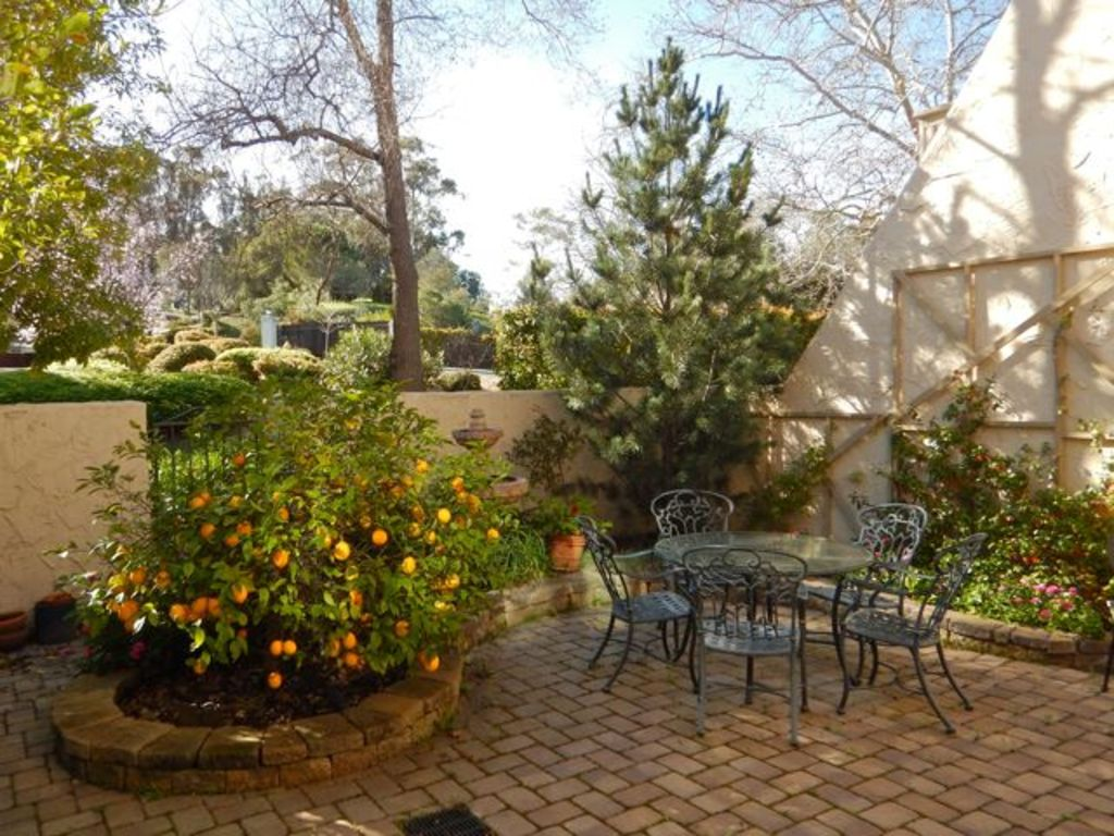 Private patio is ideal for relaxed dining, and includes a gas barbeque