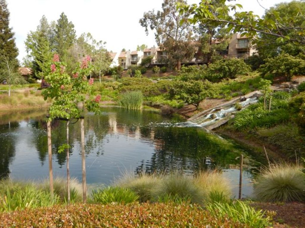 The gated community includes ponds, tennis courts and swimming pools