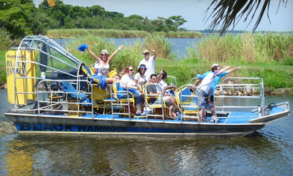 Black Hammock Airboat Gator Tours - 5 minutes drive