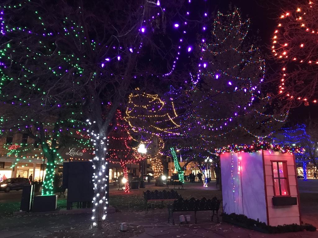 Santa Fe Plaza during the Christmas season