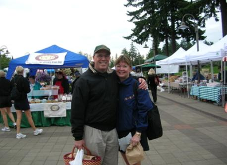 Agnes and Jack at the local market