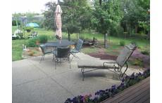 back patio off porch