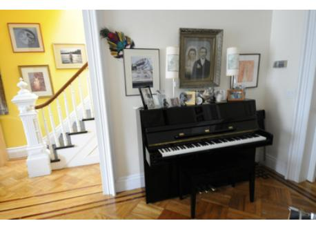 Piano in Parlor Room
