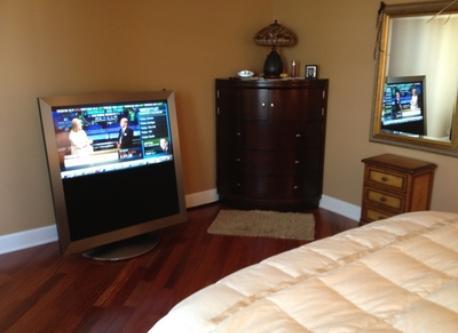 Master Bedroom looking South at television