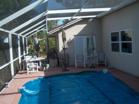 Pool and screened deck