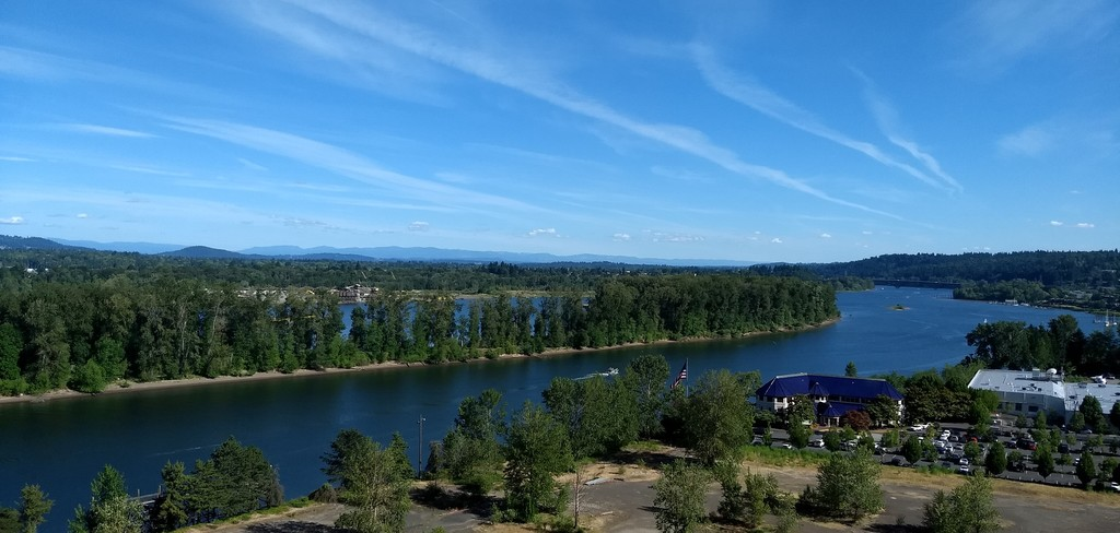 View south along Willamette River from our balcony