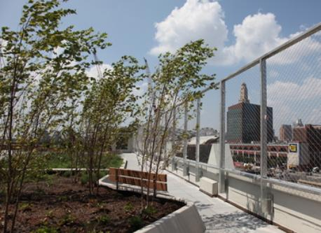 Shared roof deck with barbecue area