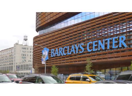 Barclay's Center with our building in rear