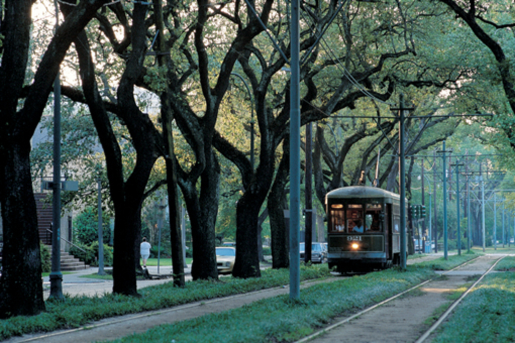 The St. Charles Streetcar is three blocks from our house.