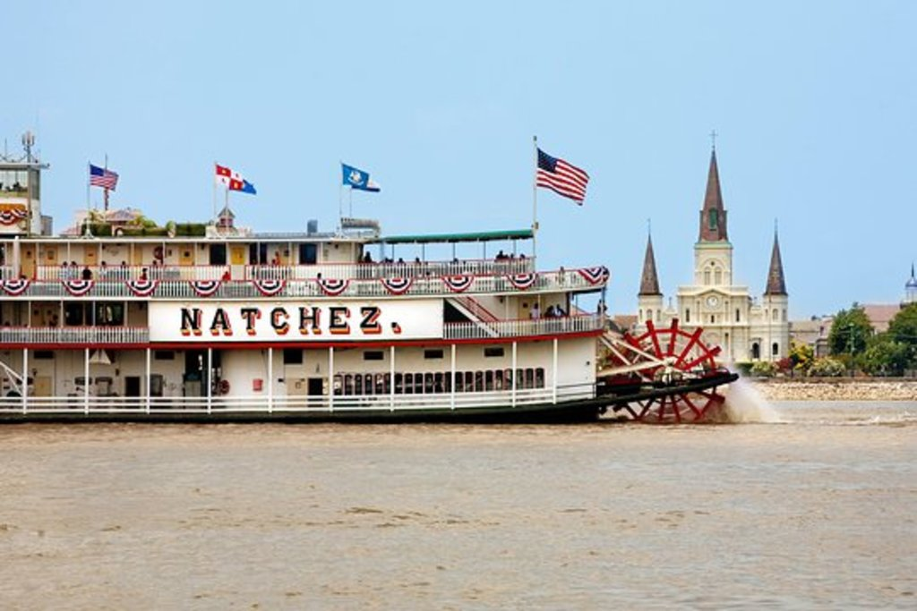 The Steamboat Natchez has a jazz and lunch cruise daily on the Mississippi (leaves from the French Quarter)