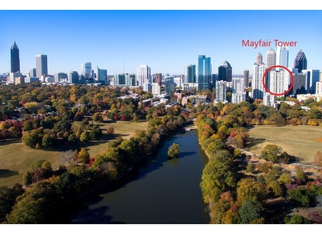 Mayfair Tower, on the western edge of Piedmont Park