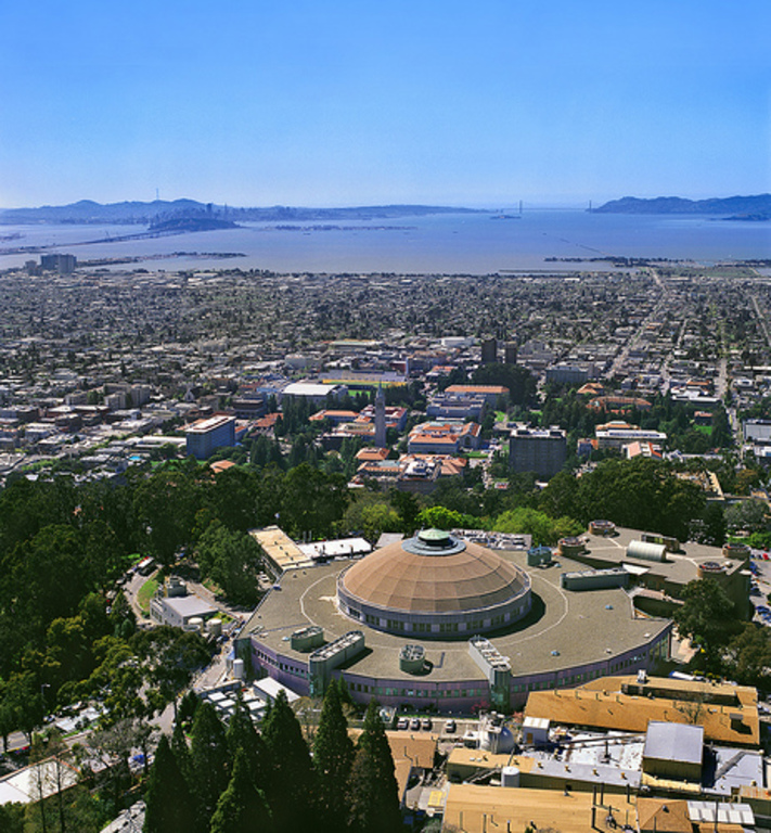 View of the Golden Gate Bridge and the UC Campus from the hill not far from our house