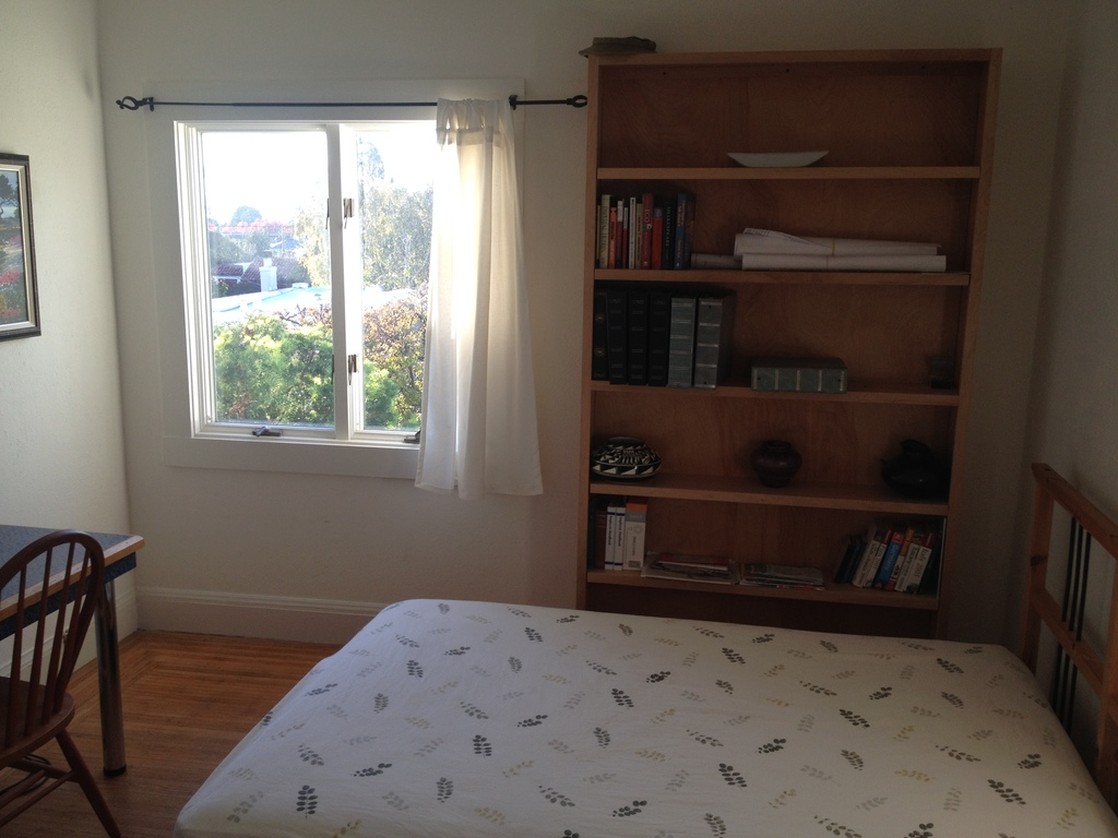 One of two upstairs bedrooms